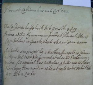 Annotations on flyleaf of UPenn Call # . Possibly in Wilson's hand.