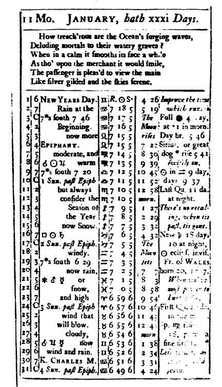 what can almanacs tell us about life in colonial america