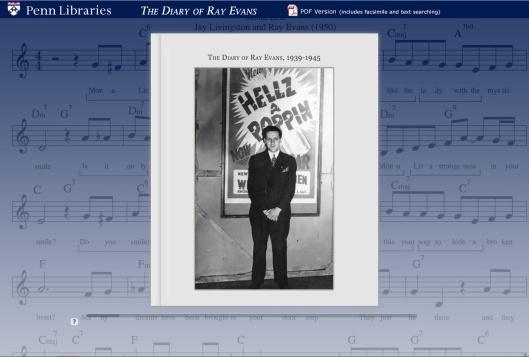 Diary of Ray Evans, 1939-1945