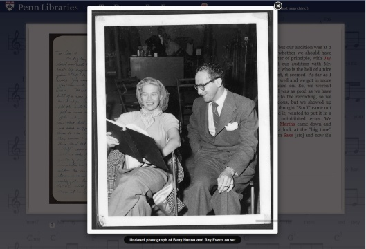 Betty Hutton and Ray Evans