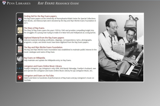 Ray Evans Resource Guide
