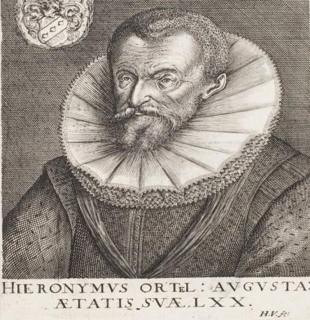 Portrait of Ortel. Nuremberg, 1615. HAB copy.